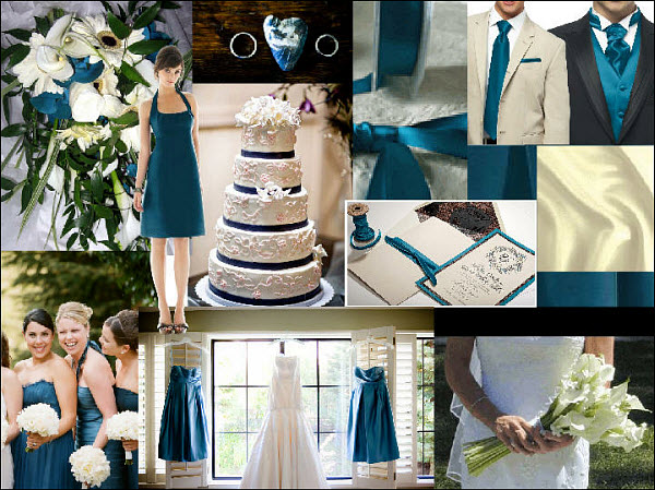 Brown And Teal Wedding Ideas: Teal Wedding Colors: Inspiration Board