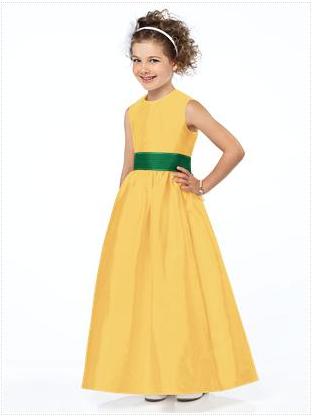 Using sunflowers to decorate your wedding yellow flowergirl dress by dessy mightylinksfo