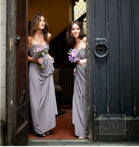A Countrystyle Wedding Themed In Purple and Grey