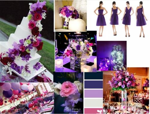 Purple And Pink Wedding Styleboard