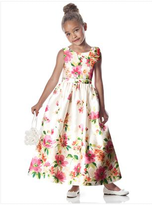 Dessy flowergirl dress for country garden wedding theme