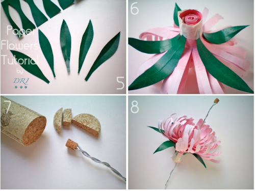 Easy crafting paper flowers to dress up your wedding day making paper flowers mightylinksfo Choice Image