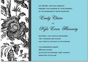 Whats the number one wedding must have to order online your green leaf wedding invitation blue and black wedding invitation card stopboris Images