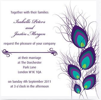 Whats the number one wedding must have to order online your peacock wedding invitation stopboris Choice Image