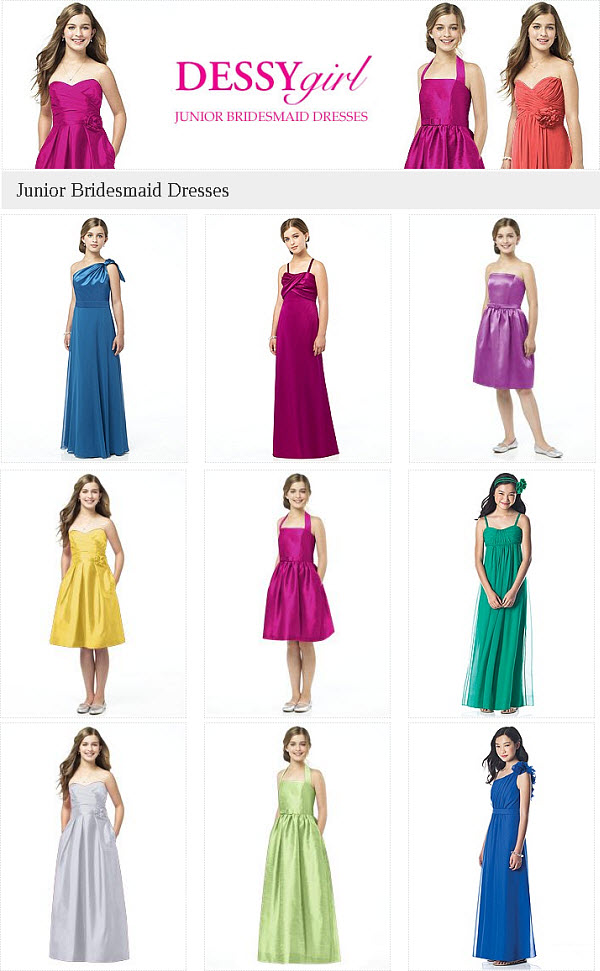 Colorful Junior Bridesmaid Dresses for Your Stylish Teens