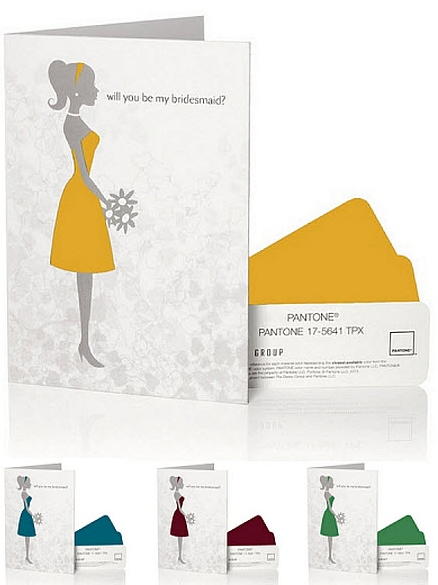 The PANTONE WEDDING™ Will You Be My Bridesmaid Card