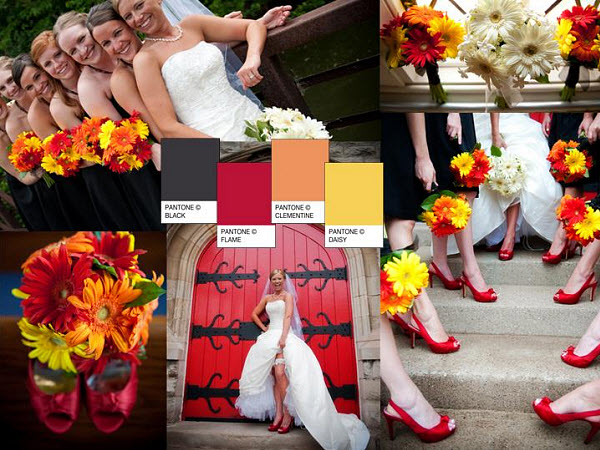 Wedding Inspiration Bold Colors