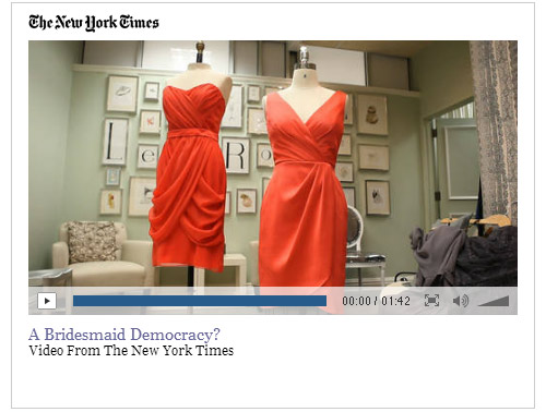 Lela Rose Bridesmaid Dresses in the NY Times