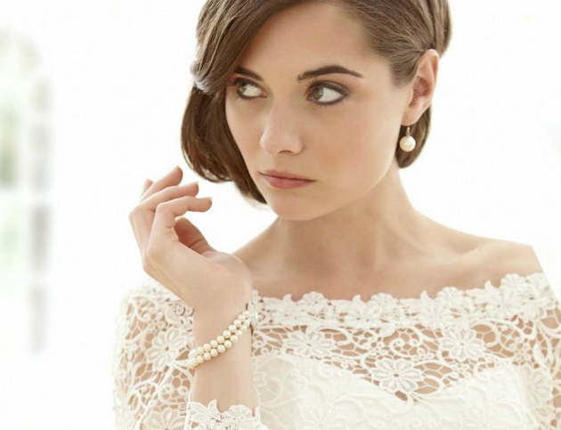 lace bridal top