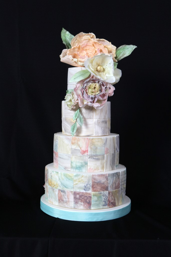 floral tiered wedding cakes