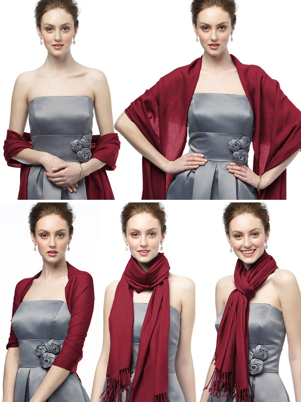 Wrap Yourself In a Fall Pashmina For the Wedding Day