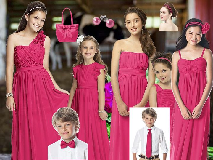 The Kids in Posie for the Wedding