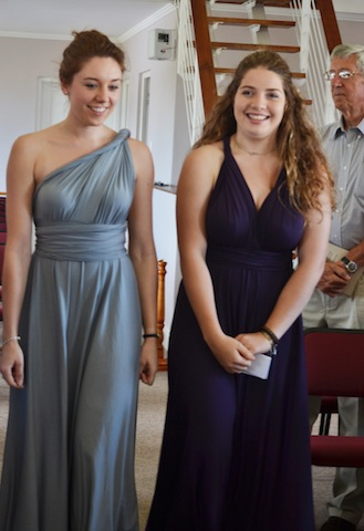 Bridesmaids In Twist Dresses The Dessy Group Spot For All Things Bridesmaid