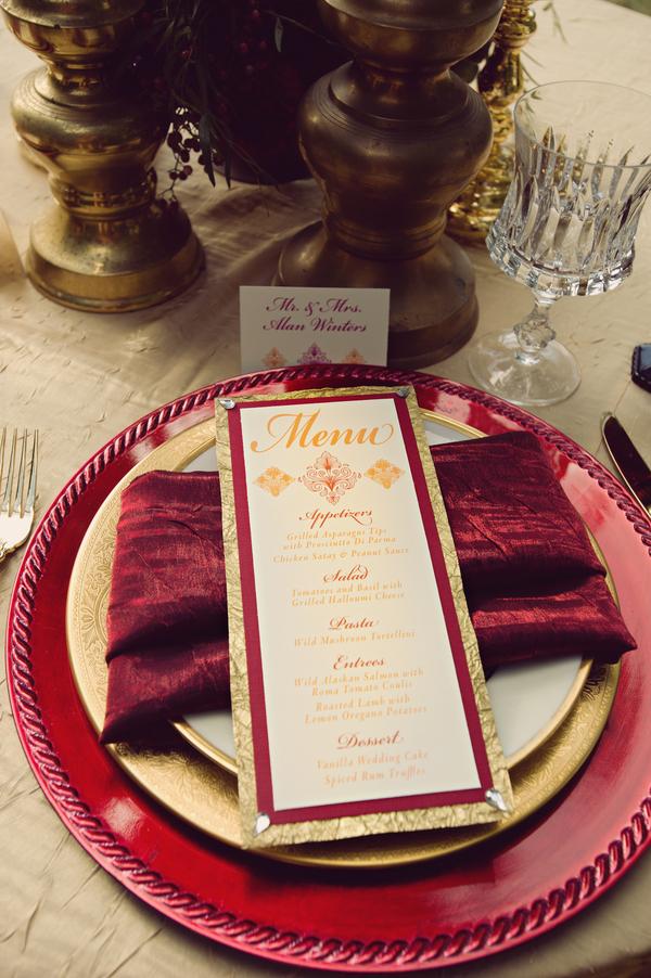 Ruby Red A Richly Dramatic Wedding Theme Idea