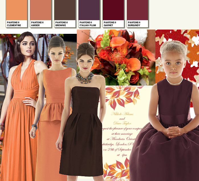 Colours for an autumn bride autumn wedding colours junglespirit Image collections