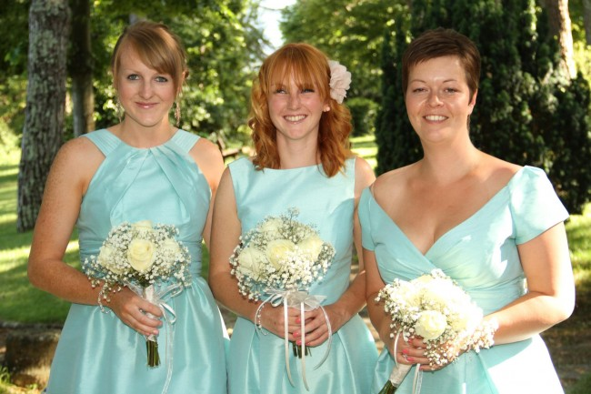 aquamarine bridesmaid dresses