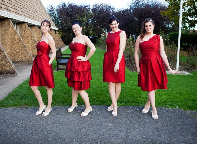 red bridesmaids dresses mismatched