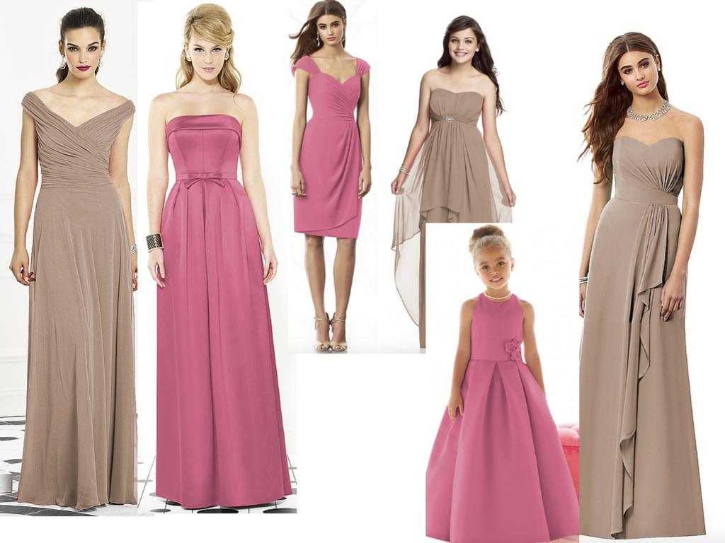 Beige color combination dress