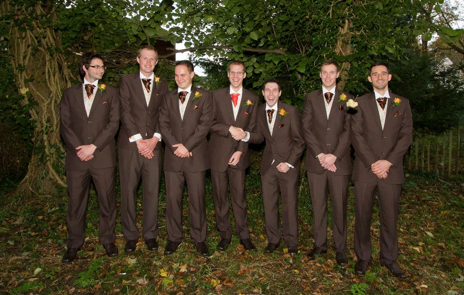 Grooms Brown Coloured Wedding Suits