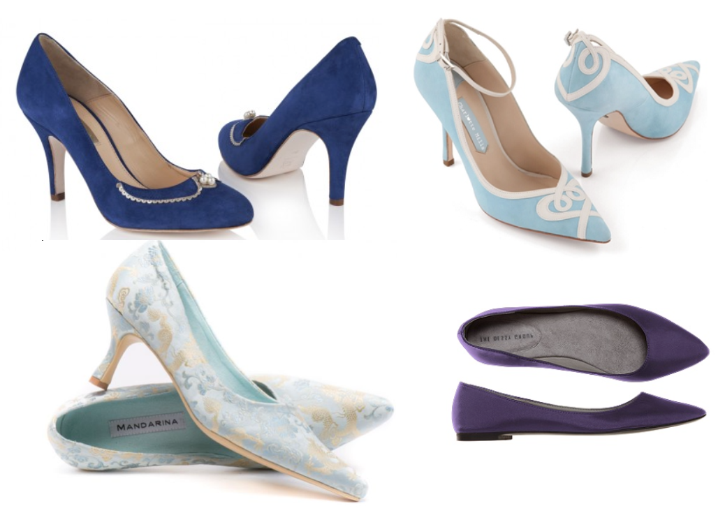 Blue Colourful Wedding Shoes
