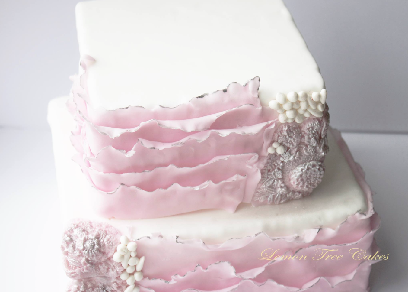 black and pale pink winter wedding