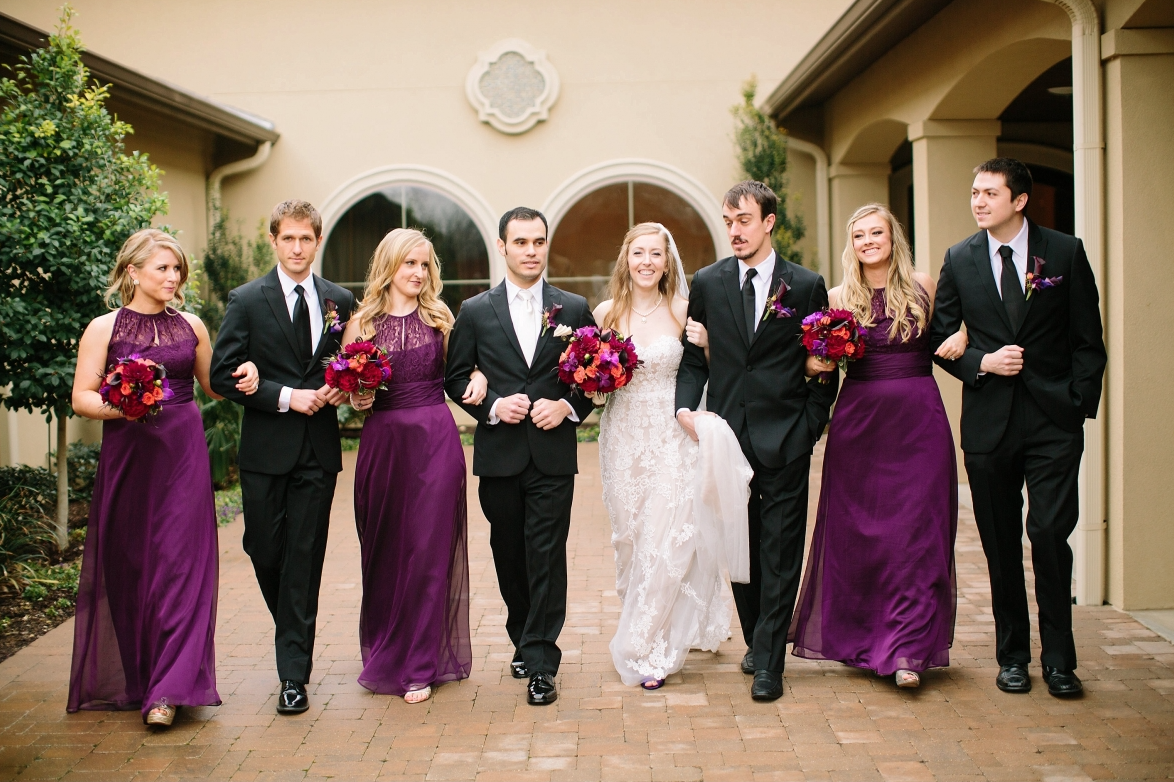 berry coloured bridesmaid dresses