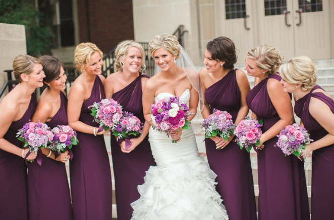 Pick Plum Coloured Bridesmaid Dresses For An Autumn Wedding