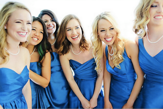 teenage bridesmaids