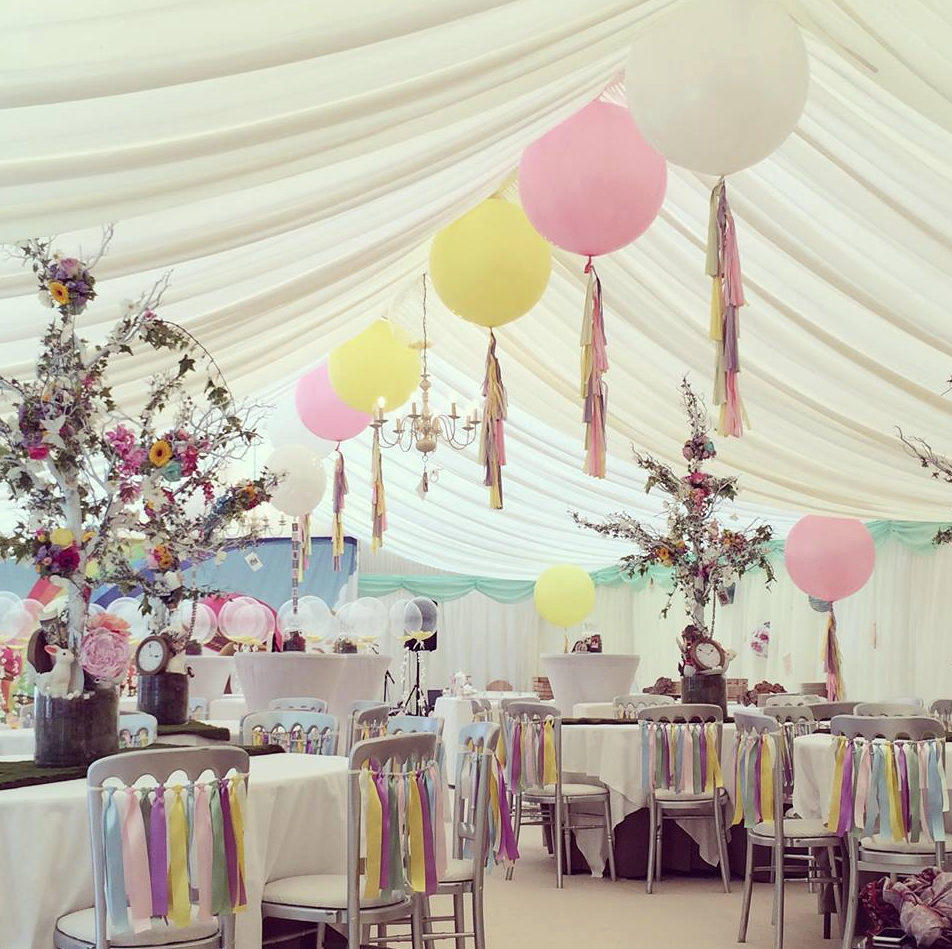 Wedding marquee by Bubblegum Balloons