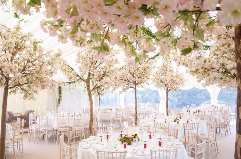 Transform Your Wedding Reception Into A Cherry Blossom Filled Forest