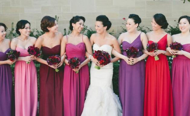 Les différentes couleurs des robe demoiselle d'honneur