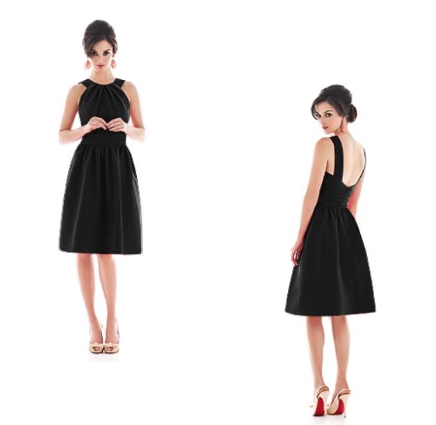 Short-black-bridesmaid-dress-Alfred-Sung-D492.png