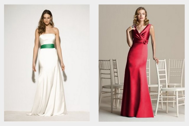 Christmas Wedding Dress Collage