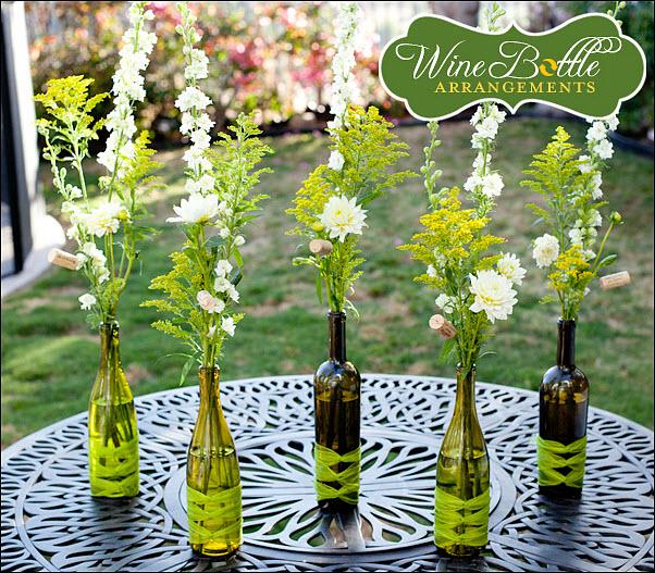 Diy Wedding Reception Centerpiece Wine Bottle Vases