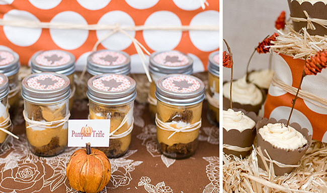 Pumpkin And Cinnamon Desserts Cover This Table Truly Capturing The  Comforting Flavors Of Fall. Mason Jars Filled With Pumpkin Trifle Are At  The Top Of My ...