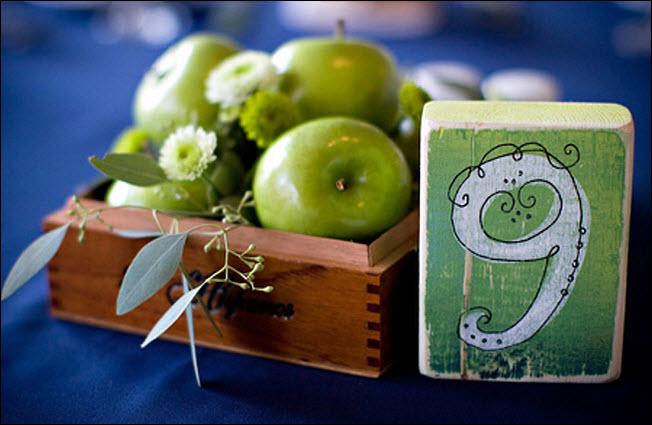 DIY Wedding Reception Centerpiece: Fresh Fruit