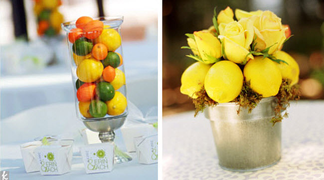 Terrific Diy Wedding Reception Centerpiece Fresh Fruit Complete Home Design Collection Barbaintelli Responsecom