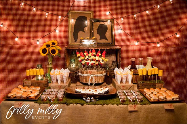 Lumberr Jack and Jill Wedding Theme