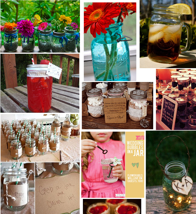 wedding mason jar ideas