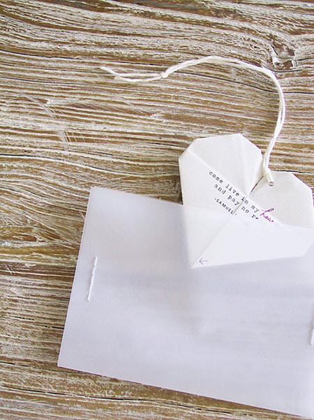 Diy wedding invitations origami hearts solutioingenieria Image collections