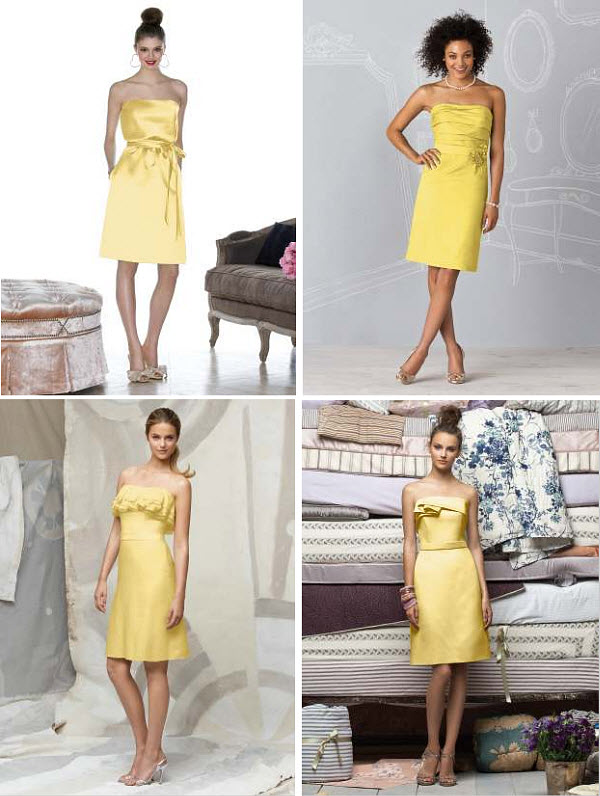 yellow summer bridesmaid dresses