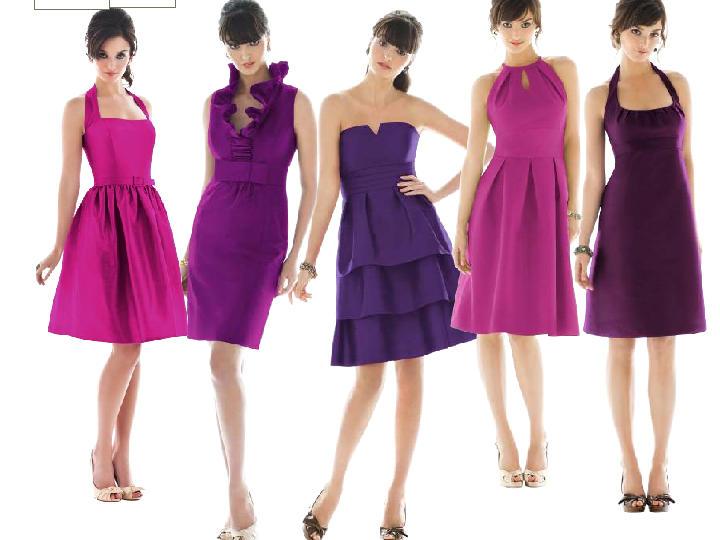 Different Shades Of Purple Weddingbee
