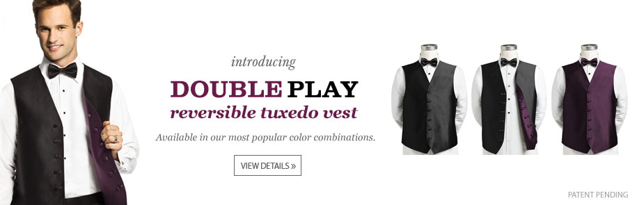 Introducing the Double Play Reversible Tuxedo Vest
