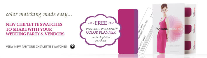 Pantone Wedding Chiplette and Free Color Planner