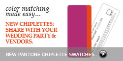 Pantone Wedding Chiplette Swatches
