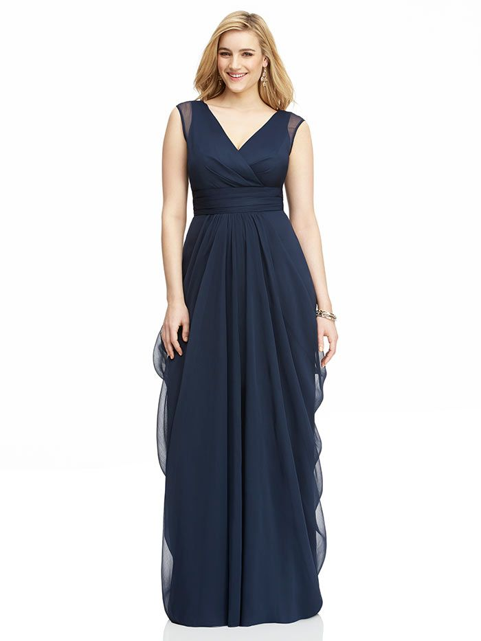 Plus size bridesmaid dresses the dessy group for Plus size wedding party dresses