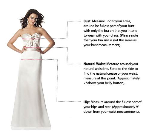 Size chart for wedding dresses bridesmaid dresses for Wedding dress size guide
