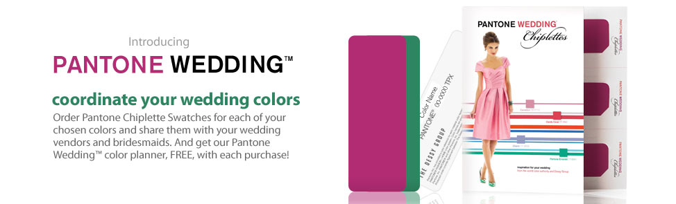 Pantone Weddings - Coordinate your wedding colors