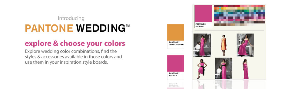 Pantone Weddings - Explore & choose your colors
