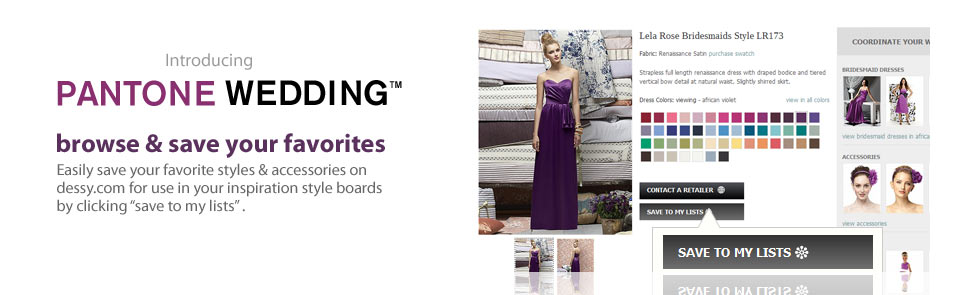 Pantone Weddings - Browse & save your favorites